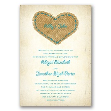 Burlap Heart - Malibu - Invitation