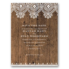 Barnwood & Lace - Save the Date