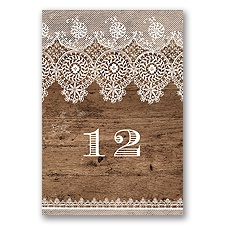 Barnwood & Lace - Table Number
