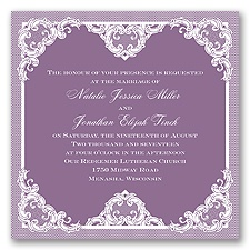 Love Lace - Wisteria - Invitation