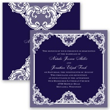 Love Lace - Lapis - Invitation