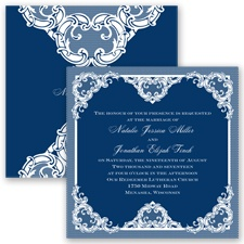 Love Lace - Marine - Invitation