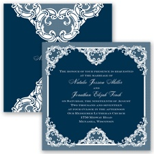 Love Lace - Peacock - Invitation
