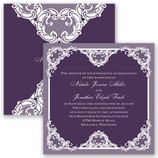 Love Lace - Plum - Invitation