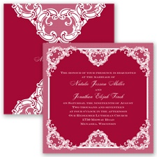 Love Lace - Apple - Invitation