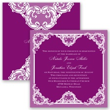 Love Lace - Sangria - Invitation