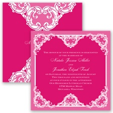 Love Lace - Watermelon - Invitation