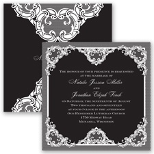 Love Lace - Black - Invitation