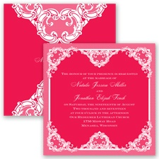 Love Lace - Poppy - Invitation