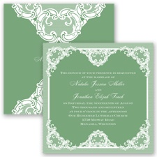 Love Lace - Clover - Invitation
