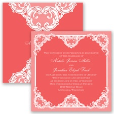 Love Lace - Guava - Invitation