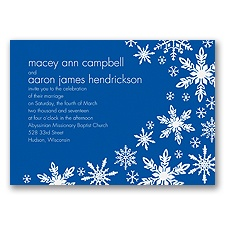 Snowflake Melody - Horizon - Invitation