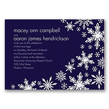 Snowflake Melody - Lapis - Invitation