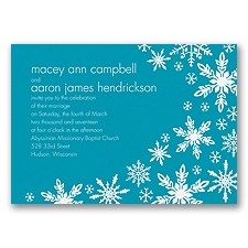 Snowflake Melody - Malibu - Invitation
