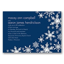 Snowflake Melody - Marine - Invitation