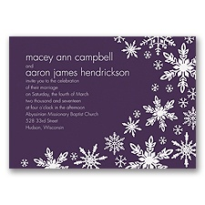 Snowflake Melody - Plum - Invitation