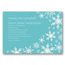 Snowflake Melody - Pool - Invitation
