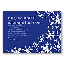 Snowflake Melody - Regency - Invitation
