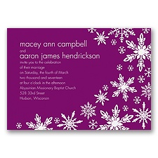 Snowflake Melody - Sangria - Invitation