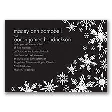 Snowflake Melody - Black - Invitation