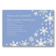 Snowflake Melody - Bluebird - Invitation