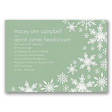 Snowflake Melody - Meadow - Invitation