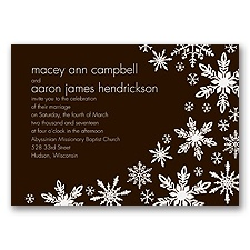 Snowflake Melody - Chocolate - Invitation