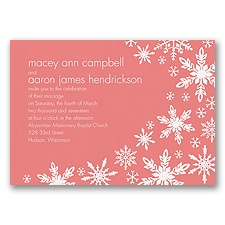 Snowflake Melody - Coral Reef - Invitation