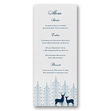 Winter Majesty  - Menu Card