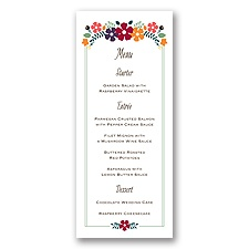 Splendid Season - Menu Card