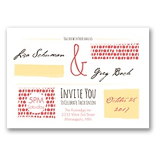 Flirty Fall Fling - Guava - Invitation