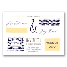 Flirty Fall Fling - Lapis - Invitation