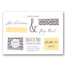 Flirty Fall Fling - Plum - Invitation