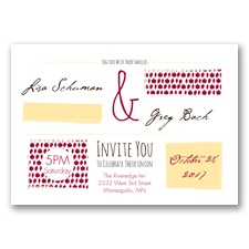 Flirty Fall Fling - Apple - Invitation