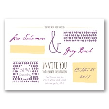 Flirty Fall Fling - Wisteria - Invitation