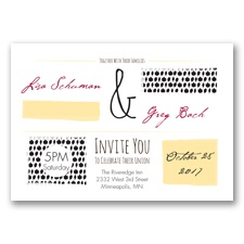 Flirty Fall Fling - Black - Invitation