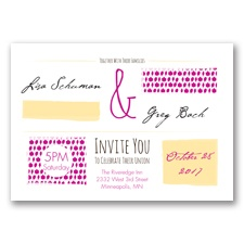 Flirty Fall Fling - Begonia - Invitation