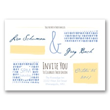 Flirty Fall Fling - Bluebird - Invitation
