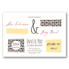 Flirty Fall Fling - Chocolate - Invitation
