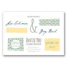 Flirty Fall Fling - Clover - Invitation