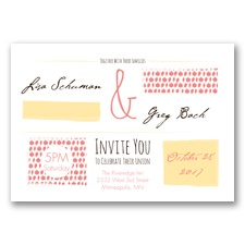Flirty Fall Fling - Coral Reef - Invitation