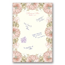 Perfect Petals Guest Signature Mat - Guest Book Alternative