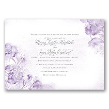 I Dream of Peonies - Soft Violet - Invitation