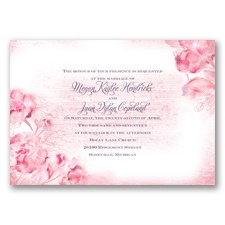 I Dream of Peonies - Pink Blossom - Invitation
