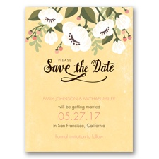 Poppies ala Pastel - Buttercream - Save the Date