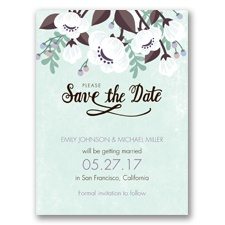 Poppies ala Pastel - Sea Glass - Save the Date