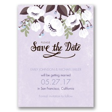Poppies ala Pastel - Soft Violet - Save the Date
