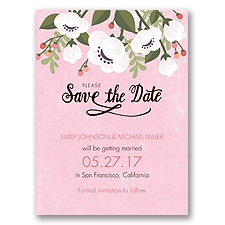 Poppies ala Pastel - Pink Blossom - Save the Date