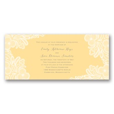 Candy Lace - Buttercream - Invitation