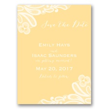 Candy Lace - Buttercream - Save the Date